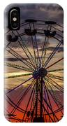 Ferris Wheel Sunset IPhone Case