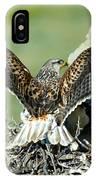 Ferruginous Hawk Male At Nest IPhone Case