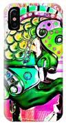 Festive Green Carnival Horse IPhone Case