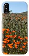 Fiddlenecks And Poppies IPhone Case
