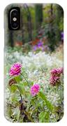 Field Of Flowers On A Rainy Day IPhone Case