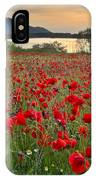 Field Of Poppies At The Lake IPhone Case