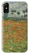 Field Of Poppies, Auvers-sur-oise, 1890 IPhone Case