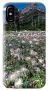 Field Of Seeding Flowers IPhone Case