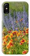 Fields Of Lavender And Orange Blanket Flowers IPhone Case