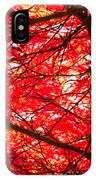 Fiery Maple Veins IPhone Case