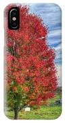 Fiery Red Maple IPhone Case