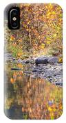 Fiery Reflection At Lost Maples IPhone Case