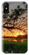 Fiery Swamp Sunset IPhone Case