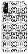 Figure 8 Black And White Pattern IPhone Case