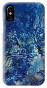 Figures On A Bridge Oil On Canvas IPhone Case