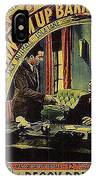Film Homage Burn 'em Up Barns Mascot Serial 1934 Chapter 5 Lobby Card Color Added 2008 IPhone Case