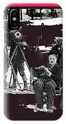 Film Homage Charles Chaplin The Gold Rush 1925 Camera Crew Collage 2010 IPhone Case