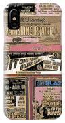 Film Homage Collage Drive-in Ads 1953 Tucson Arizona 2008 IPhone Case
