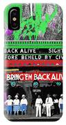 Film Homage Frank Buck Bring 'em Back Alive 1932 Collage Fox Tucson  Arizona 1932-2011 IPhone Case