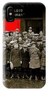 Film Homage Harold Lloyd The Freshman  City Orphans Ambassador Theater Washington D.c. 1925-2010  IPhone Case