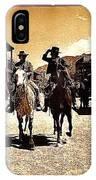 Film Homage Mark Slade Cameron Mitchell Riding Horses The High Chaparral Old Tucson Arizona IPhone Case