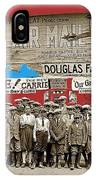 Film Homage The Air Mail  Leader Theater Washington D.c. 1925-2010 IPhone Case