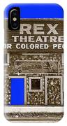 Film Homage The New Adventures Of Tarzan 1935 1935/1937-2010 Rex Theater Leland Mississippi IPhone Case