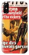 Film Noir Poster  The Burglar Jane Mansfield IPhone Case