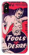 Film Poster Fools Of Desire 1930s IPhone Case