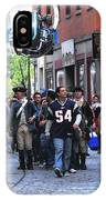 Filming New England Patriots Commercial IPhone Case