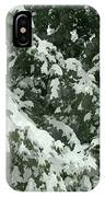 Fir Tree Branch Covered With Snow  IPhone Case