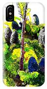 Fir Tree Buds Abstract IPhone Case