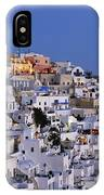 Fira Town During Dusk Time IPhone Case