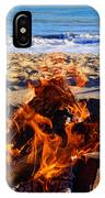 Fire At The Beach IPhone Case