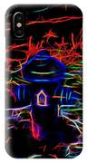 Fire Hydrant Bathed In Neon IPhone Case