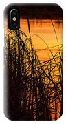 Fire On The Marsh IPhone Case