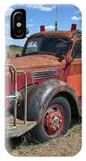 Fire Truck International Harvester C. 1946 IPhone Case