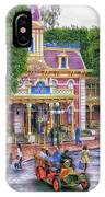 Fire Truck Main Street Disneyland IPhone Case
