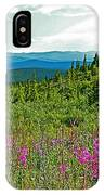 Fireweed Near Top Of The World Highway-alaska IPhone Case