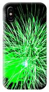 Fireworks In Green IPhone Case