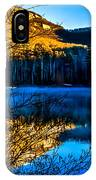 First Light At Pinnacle Lake IPhone Case