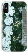 First Peter One Six To Seven White Floral  IPhone Case