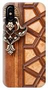 Firuz Aga Mosque Door 04 IPhone Case