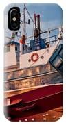 Fish Trawler On Land IPhone Case