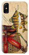 Fishing Basket  IPhone Case by Jean Plout