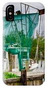 Fishing Boat And Pelicans On Posts IPhone Case