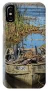 Opening Day Hunting Boat IPhone Case