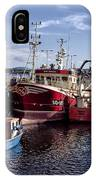 Fishing Boats In Killybegs Donegal Ireland IPhone Case