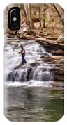 Fishing Mill Creek Falls In West Virginia IPhone Case