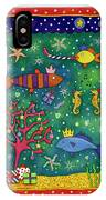 Fishy Christmas, 1997 Wc And Pastel On Paper IPhone Case