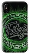 Fitz's In Green Neon  IPhone Case