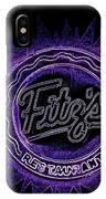 Fitz's In Purple Neon IPhone Case