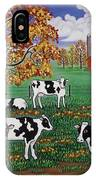 Five Black And White Cows IPhone Case