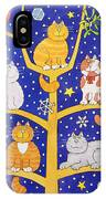 Five Christmas Cats IPhone Case